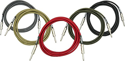 DIMARZIO Cable de instrumento de color negro y plata 6ft.