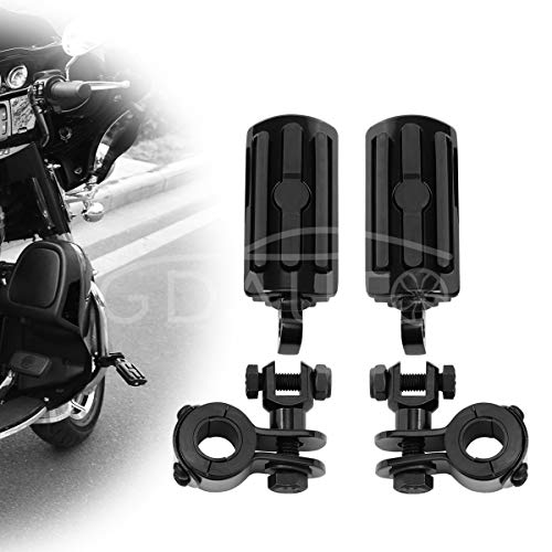 Highway Pegs Motorcycle Footpegs Foot Rest(Black) for Road King Street Glide Honda Suzuki Yamaha Kawasaki Engine Guard