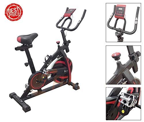 FFitness Bici da Spinning Fly Spin 6 con volano da 6 kg, Bicicletta per Allenamento Dimagrante, Forza, Resistenza, Spinbike con Cardio per l'home Fitness, Nero