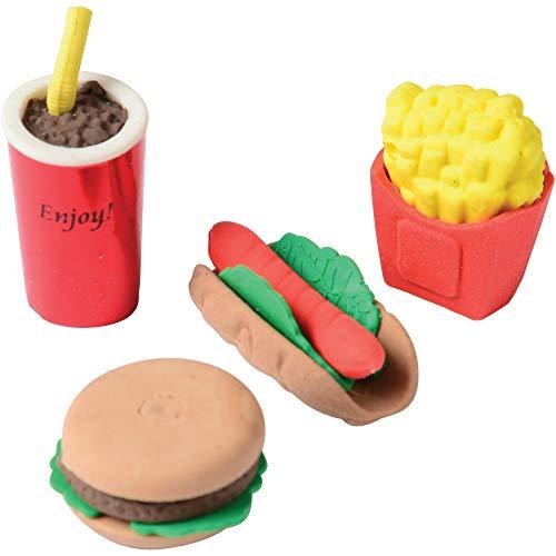 U.S. Toy Dozen Assorted Junk Food Theme Erasers