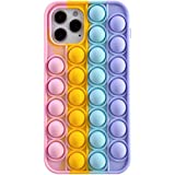 Fidget Toys Phone Case, Push Pop Bubble Sensory Fidget Toy Stress Relief iPhone Case for Kid Adults Silicone Protective Phone Case for iPhone iPhone7,8,7P,8P,X,XS,XS Max,XR,11,11pro,12,12Pro,12Pro Max
