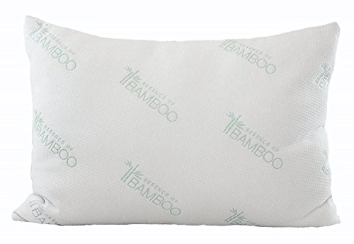 Essence of Bamboo Derived Rayon Pillow with Shredded Latex/Poly Fill Blend - Down Alternative and Memory Foam Alternative - 100% Best Sleep Ever Guarantee (Queen)