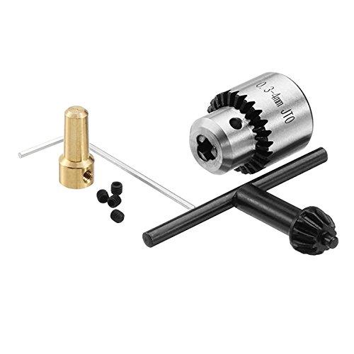 LMIAOM 0,3-4mm Mikromotor-Bohrfutterklemme mit Schlüssel und 2,3-mm-Pleuelstange Hardware-Zubehör DIY-Tools