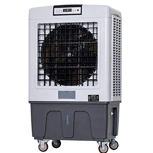 Enfriador evaporativo portátil - 18000 m ^ 3 / h Flujo de Aire, 3 velocidades de Viento, Tanque de Agua 100L, Enfría 120 Metros Cuadrados