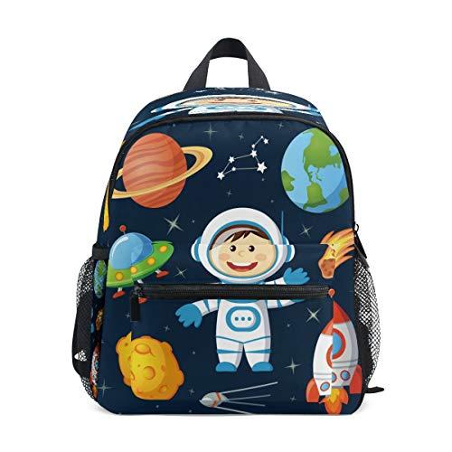 Cohete Estrella Astronauta Mochila para Preescolar Toddler Kids Estudiante Mochilas para Infantiles 2-7 Años Niñas Niños