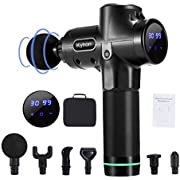 Muscle Massage Gun-Deep Tissue -30 Speeds Handheld Percussion Massager with Six Different Heads for Different Muscle Groups-Powerful Muscle Gun-LED Indicator Touch Screen