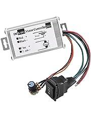 Sanfiyya Controlador de Motor de la CC del regulador de Velocidad 20A Junta de Ancho de Pulso PWM módulo de Control del Interruptor de la Tarjeta con el Interruptor de botón Junta