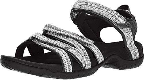 Teva Damen Tirra Womens Sport-& Outdoor Sandalen, Weiß (Black/White Multi), 38 EU