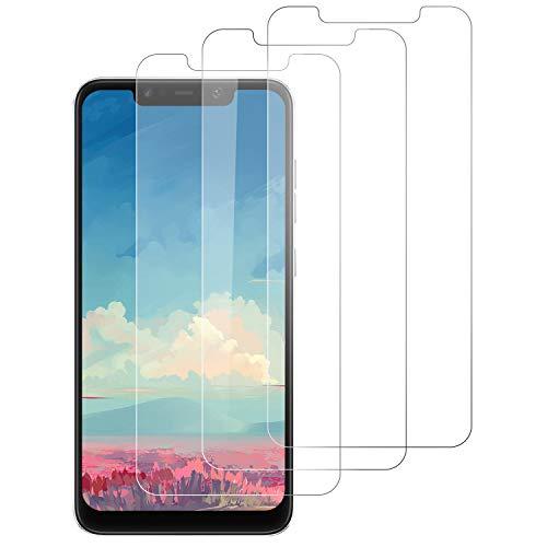DOSNTO [3 Stück Panzerglas Schutzfolie für Xiaomi Pocophone F1 9H Härte, Anti-Kratzen, Anti-Öl, Anti-Bläschen, Hülle Fre&llich Bildschirmschutzfolie