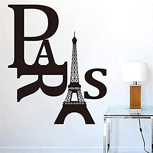 Torre Eiffel Pegatinas De Pared Pegatinas De Pared Decoración Del Hogar Arte Vinilo Calcomanías Dormitorio Pared Simple E76X53Cm