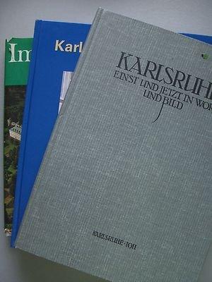 3 Bücher Karlsruhe einst jetzt Wort Bild + Karlsruher Brunnen + Herzen Badens