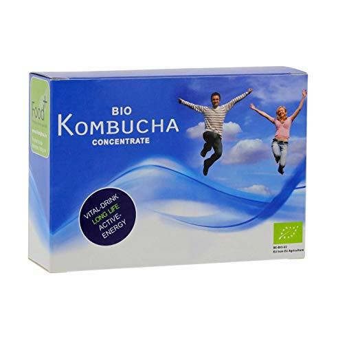 Kombucha 14-Tage-Detox mit Bio Kombucha Kultur Konzentrat Zuckerfrei, 14 Ampullen, die mit 9 ml hyperkonzentriertem Kombucha