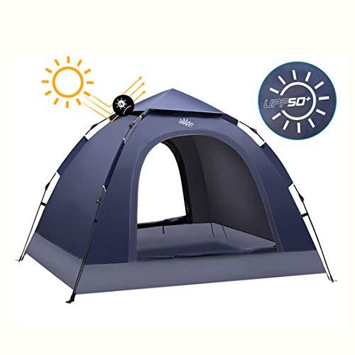 JX-ZHANGPENG Dome Groene Tent 2 Personen Familie Cross Land Buiten Enkele Laag Camping Zonnebrandcrème UV Bescherming Automatische Blauwe Tent (210 * 150 * 100Cm)