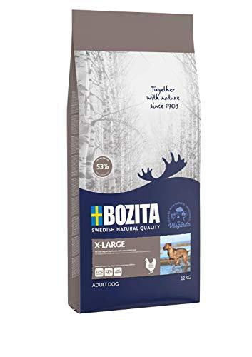 BOZITA X-Large Hundefutter - 12 kg - nachhaltig produziertes Trockenfutter für erwachsene Hunde großer Rassen - Alleinfuttermittel