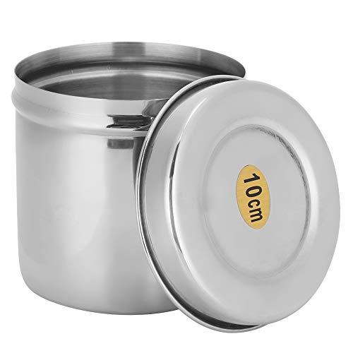 Pot de Boule de Coton, éponges de Maquillage pour Organisateur de Stockage, sels de Bain, bidon de Boule de Coton, Paquet de 2 pour Coton-Tige