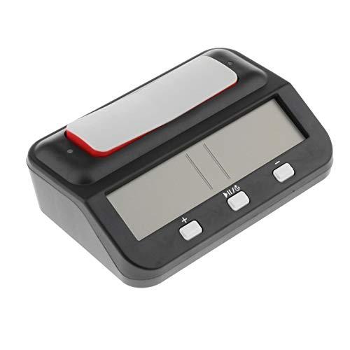N/A/a Reloj de Ajedrez Reloj Digital Compacto Contador Ascendente Y Descendente Contador de Horas Electrónico - Negro, Individual