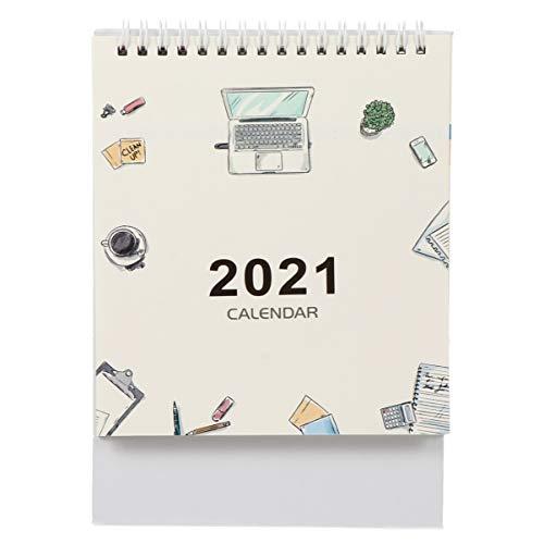 Tomaibaby Terminarz 2021 zrób to sam notatka ze spiralą, kalendarz, notatnik, blat roboczy, termin, data, przypomnienie, papier listowy, dostawa do domu, biura, dekoracja, styl 2