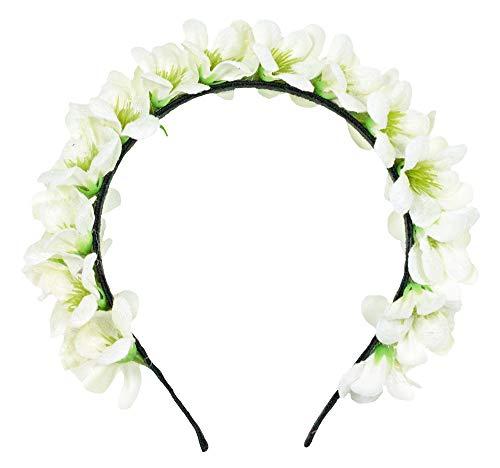 Trachtenland Blumen Haarreif Ranya - Creme Weiß