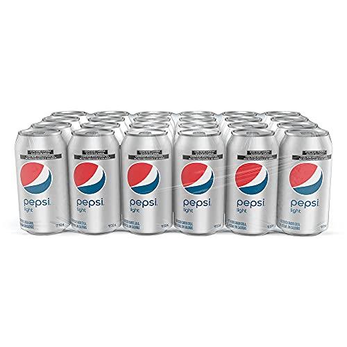 Pepsi Light Refresco de Sabor Cola Light con Latas de Aluminio, Contenido 1...