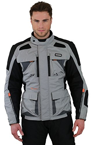 Nerve Tengri Motorrad Tourenjacke, Grau/Schwarz, XL