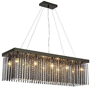 LED kroonluchter moderne kristallen lamp plafond rechthoekige restaurant kroonluchter tafellamp A + (grootte: 80 * 30cm)