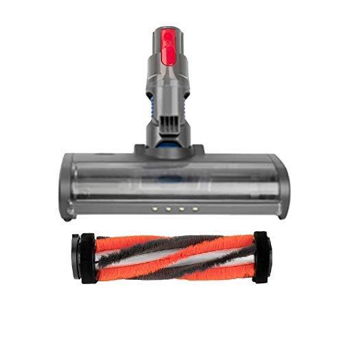 YBINGA Cabeza de rodillo suave de liberación rápida eléctrica cabeza de piso para V7 V8 V10 V11 Partes de reparación de aspiradoras, piezas de aspirador rojo
