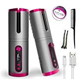 Hair Curling Wands,Cordless Auto Curler with Hair Clip and...