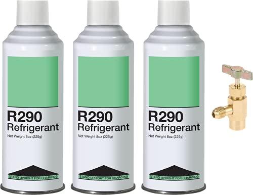 Leak Saver Refrigerant R290 - Upright Liquid Charging Self-Sealing Can...