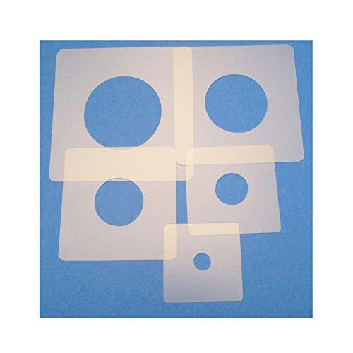 Schablonen Set ● 5 einzelne Kreise ● 1 cm, 2cm, 3cm, 4cm, 5cm groß
