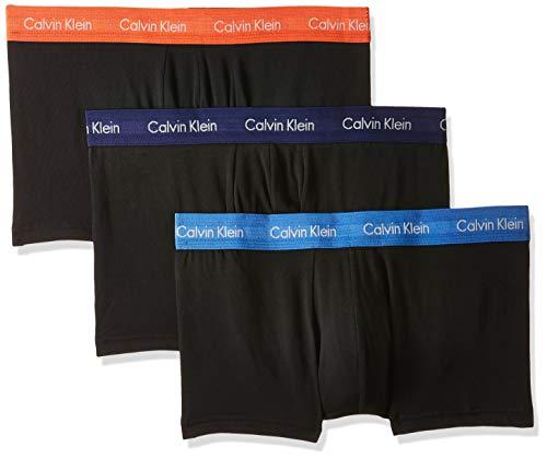 Calvin Klein Herren Low Rise Trunk 3pk Boxershorts, Schwarz (B-Minnow/Horoscope/Inferno Bnw), XS