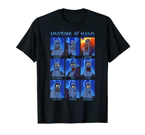Disney Hercules Hades Emotions Retro Poster T-Shirt