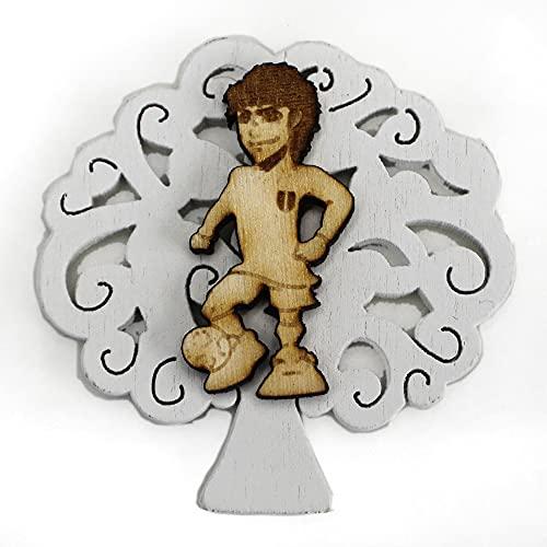 DLM-32309 (Kit 12 Pezzi) Calamita Albero della Vita Calcio Calciatore Partita Football Confettata Segnaposto Magnete bomboniera