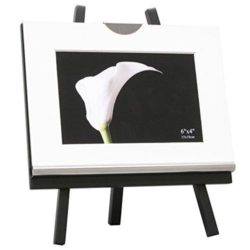 Deknudt Frames S58ML5 Fun & Deco 10x15 Glas auf schwarzem Ständer mit silberner Innenkante Holz Fun & Deco