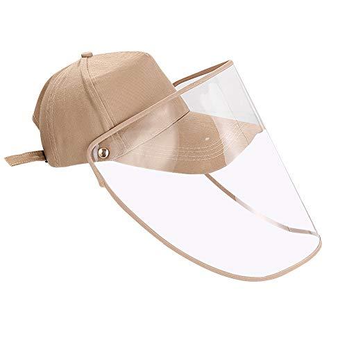 Domybest Cappello da Baseball Antiappannamento Antivento Cappuccio Protettivo Anti-sputo Protezione Facciale con Visiera Rimovibile Protezione UV Visiera Protettiva Trasparente per Uomo Donna