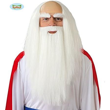 Tangger P/ère No/ël Cosplay Perruques et Barbes Blanches,Accessoire de Cheveux du P/ère No/ël D/éguisement,Habillage de No/ël