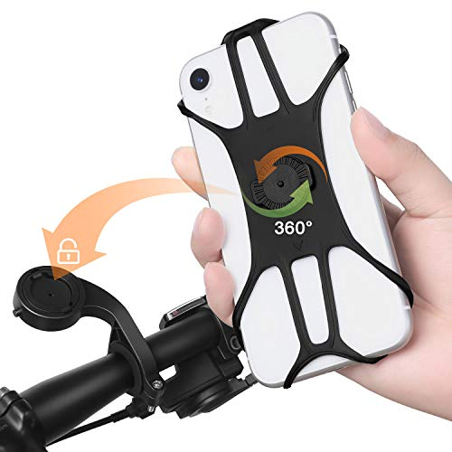 Zacro Bike Phone Mount, 360 ° rotación silicona bicicleta Phone Holder Universal Bike Phone Holder.4.0-6.8 pulgadas