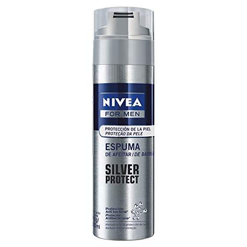 Espuma de Barbear Nivea Men Silver Protect 200Ml, Nivea