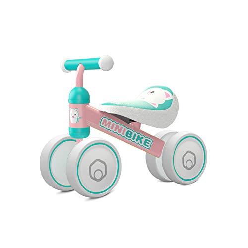 YGJT Bicicleta sin Pedales para Bebe de 1 Año (10-18 Meses), Correpasillos Juguetes Bebes para ejercita Las Habilidades de coordinación de su bebé, Excelente Regalo para Bebe de 1 Año (Gato)