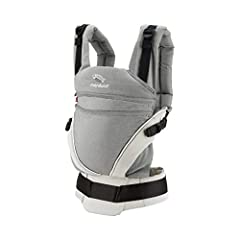 This baby carrier adapts from newborn to toddler. Infinitely adjustable seat (16-50cm) without buttons, knots, Velcro or cord system. Novel tension arches support baby's spine & hip Three height options thanks to the patented back extension & integra...