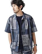 ナノ・ユニバース(nano・universe) 別注総柄ビッグシャツ/半袖