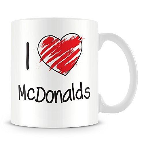 N\A Taza Personalizada de I Love Mcdonalds Taza Personalizada de Regalo