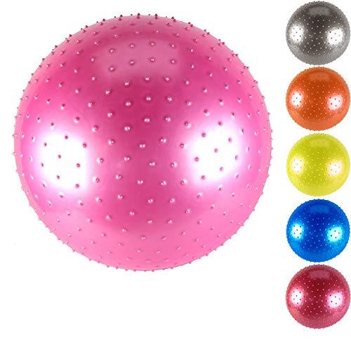 langchao Bola de Yoga Engrosada a Prueba de explosión Bola de Fitness Bola de dragón Grande Bola de Masaje de Sentido Infantil Azul 45 Suave