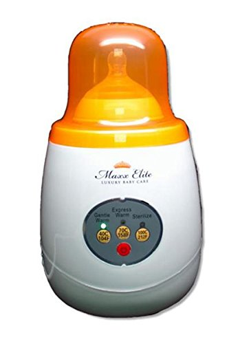 Maxx Elite'Gentle Warm' Smart Bottle Warmer & Sterilizer w/'Steady Warm' (Orange)