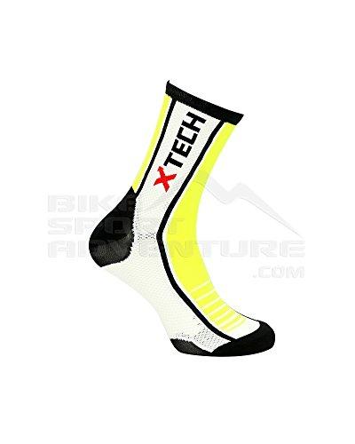 Xtech Calze Ciclismo XT80, Giallo Fluo - Giallo, 39/42