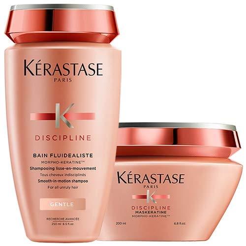 Kérastase Discipline Bain Fluidealiste y Maskeratine - Lote de champú y mascarilla con morpho-keratineTM, cabellos rebeldes