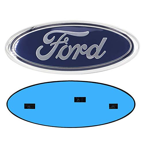 9 Inch Front Grille Tailgate Emblem, Oval 9'X3.5', Decal Badge Nameplate for 04-14 F150 F250 F350, 11-14 Edge, 11-16 Explorer, 06-11 Ranger (Blue)
