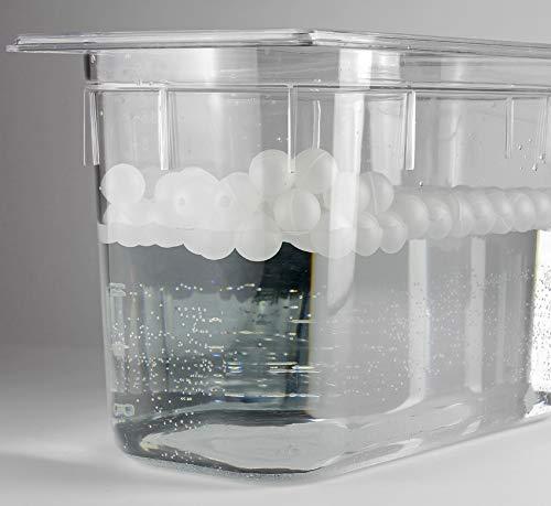 My-Gastro 100 Stk Sous Vide Isolationskugeln 38mm XXL Isolation spülmaschinengeeignet Garer Stick Kugeln Deckel Antidampfkugeln Bälle Anti Dampf