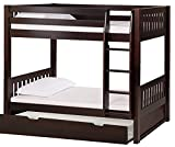 Product Dimensions(Inches):- Height(70 In), Width (39 In), Length (80 In), Bunk Bed Size: Single Primary Material:-Shesham wood, Mattress board, trundle base and sides made from plywood, Color:-Brown Mattress Size: 36 X 75 Inch. Mattress not included...