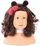 Götz 1992157 Haarwerk Ladybug Signature Edition, Schwarze Haare, braune Augen - 28 cm hoher Frisier- und Schminkkopf in 68-teiligen Set - geeignet für Mädchen ab 3 Jahren -