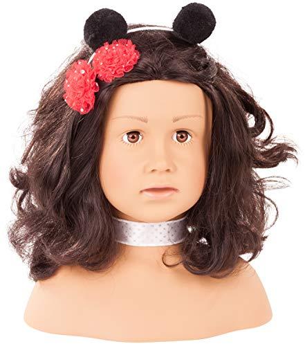 Götz 1992157 Haarwerk Ladybug Signature Edition, Schwarze Haare, braune Augen - 28 cm hoher Frisier- und Schminkkopf in 68-teiligen Set - geeignet für Mädchen ab 3 Jahren
